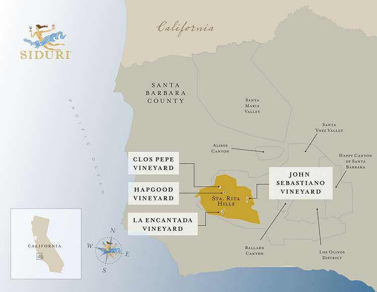 Sta. Rita Hills Vineyard map