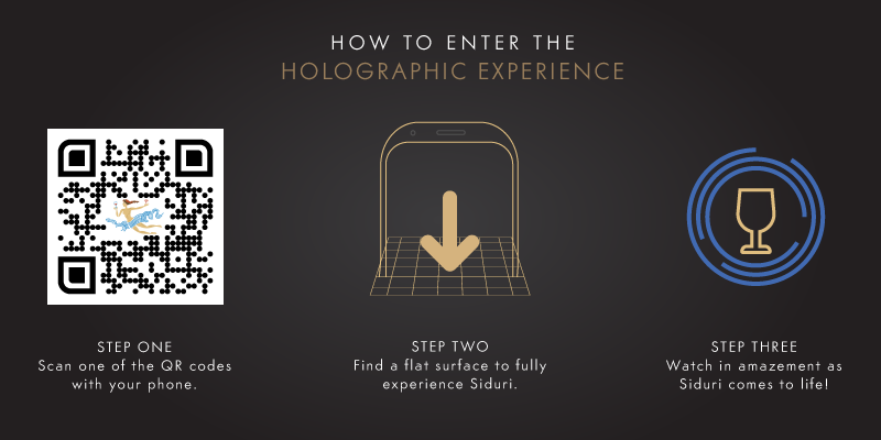 how to enter the Siduri holographic experience