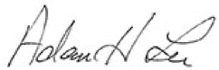 Adam Lee signature